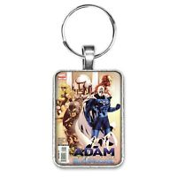 Adam Legend of the Blue Marvel #1 Cover Key Ring or Necklace Yellow Jacket