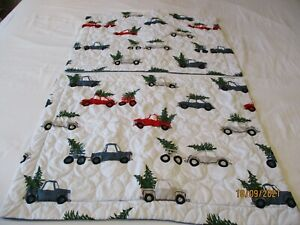 2 Modern Southern Home Christmas Quilted Standard Pillow Shams