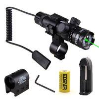 Green Laser Tactical Sight Rifle Dot Scope+Switch+Picatinny Rail+Barrel Mounts