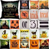 Halloween Skull Print Cotton Linen Pillow Case polyester Cushion Cover Home Deco