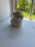 Vintage 1960's Porcelain White Pig Tea Coffee Pot Pitcher Pourer