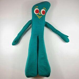 "VTG Gumby Pals Plush 36"" Green Stuffed Animal Posable Arms Big Legs 1983 LARGE"
