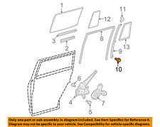 Toyota Oem Glass-Rear Door-Frame Screw 9008015085