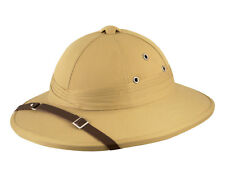Deluxe Adult Safari Pith Hat Beige Hunter Helmet Fancy Dress Party Hat