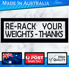 GYM Sticker - Rack weights - White or Black, Die-cut x 2