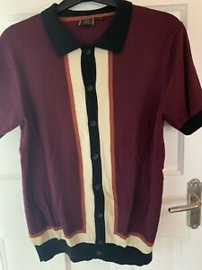 Merc Italian Mod Knitted Polo Shirt. Size M