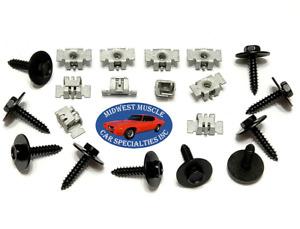 07-14 GM Truck Front Fender Wheel Well Liner Splash Shield Screws & Nuts 20pc UN