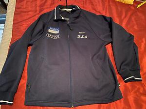 Nike Olympic Games Full-Zip USA Speed Skating Team Warmup Jacket - Men's L XL