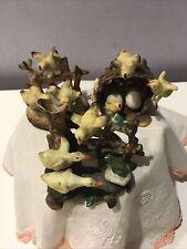 Vintage Lot X 3 Double-Cross Arrows Mark Ceramic Figurines Baby Chicks & Ducks