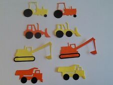 8 x Assembled Construction vehicles die cuts (various colours) *FREE UK POSTAGE*