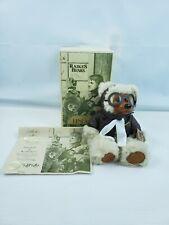 A Robert Raikes Original Bears Lindy Jr Wood Face Feet Aviator Flying High Bear