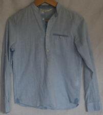 H&M Hemd Stehkragenhemd Sommer Blau Gr. 146 NEU