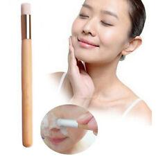 Soft Mild Fiber Face Clean Deep Cleansing Wash Pore Facial Care Brush Wood Scrub