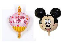 Birthday Pink Cake Disney Mickey Mouse Foil Balloon Birthday Party Decoration