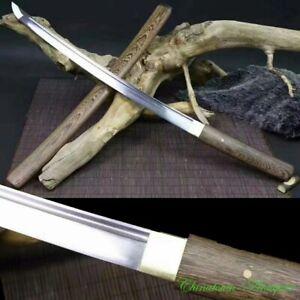 Japanese Wakizashi Samurai Short Sword Katana High Carbon Steel Blade Sharp#2587