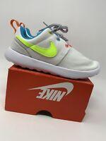 GIRLS: Nike Roshe One Shoes, Rainbow - Size 1.5Y 749422-105