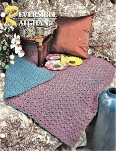 Reversible Afghan Annie's Attic Crochet Afghan Pattern Page