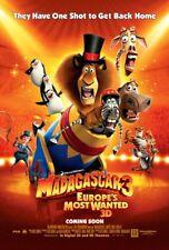 MADAGASCAR 3 EUROPE'S MOST WANTED MOVIE POSTER 2 Sided ORIGINAL ORANGE 27x40