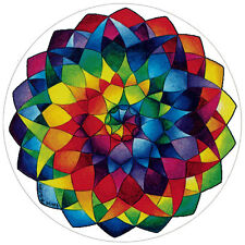 Rainbow Mandala - Window Sticker / Decal