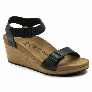 Papillio Soley Leather Black Sandals