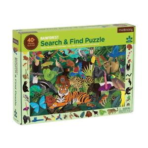 Mudpuppy 64 Pc Search & Find Puzzle – Rainforest Kids Puzzle Age 4+ 02679