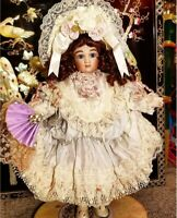 """Mary Benner Pale Blue Silk Antique Reproduction RA Steiner 18""""Victorian Doll"""