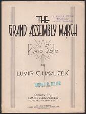 CRETE, NEBRASKA piano solo THE GRAND ASSEMBLY MARCH masonic lodge O.E.S. 1937