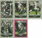 New York Jets 5 card 2013 Topps CAMO/PINK parallel lot-all different