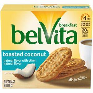 belVita TOASTED COCONUT Breakfast Energy (5-Packs 4-Biscuits Per Pack) BB 9/2021