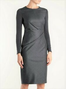 MAX MARA, Wool Dress in Dark Gray,  Size 2 US, 4 GB, 32 DE, 36 IT