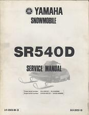 1980 YAMAHA SNOWMOBILE SR540D LIT-12618-00-31 SERVICE MANUAL (806)