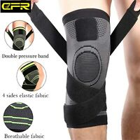 Knee Brace Support Adjustable Compression Sleeve Joint Pain Relief Arthritis P59