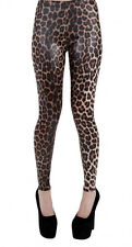 Pamela Mann estampado de Leopardo Aspecto Mojado Leggings Talla Mediano/Grande (UK 12-14)