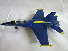 "9"" U.S.NAVY F-18 HORNET BLUE ANGEL ,DIECAST METAL,MODEL-BLUE/  YELLOW"