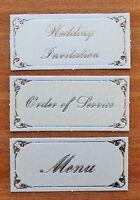 Wedding Invitation Menu Order Of Service Card Making Topper Banner Embellishment