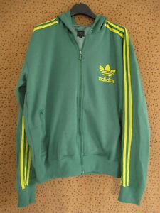 Veste Adidas à Capuche Originals vert Jacket vintage Homme - L