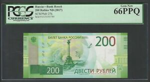 Russia 200 Rubles ND(2017) P276 Uncirculated Grade 66
