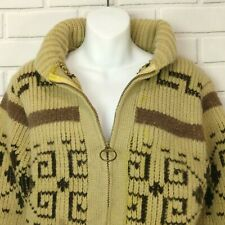 Pendleton Wool Cardigan Sweater Big Lebowski The Dude Vintage Medium Stained