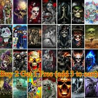 5D Full Drill Diamond Painting Devil Skull Cross Stitch Kits Embroidery Decors