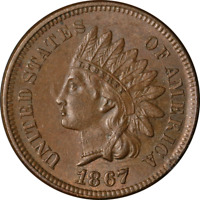 1867 Indian Cent Choice BU+ Superb Eye Appeal Strong Strike