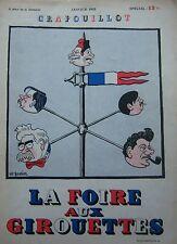 LE CRAPOUILLOT JANVIER 1935 SPECIAL LA FOIRE AUX GIROUETTES