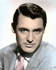 "CARY GRANT MOVIE STAR HOLLYWOOD ACTOR 8x10"" HAND COLOR TINTED PHOTOGRAPH"