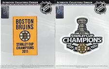2011 NHL Stanley Cup Final Champions Boston Bruins Banner Jersey Hockey Patch