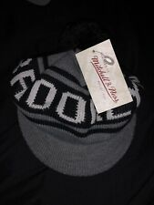 Brooklyn Nets Mitchell and Ness Pom Beanie With Bill Knit Winter Hat