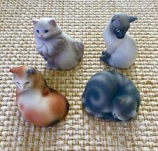 Vintage 1984~Avon~Ceramic Cat Figurines~Lot of 4~Siamese-Tabby-Calico-Pe rsian
