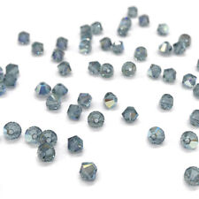 144 Swarovski 5328 Crystal XILION Bicone Beads Jewelry 4mm INDIAN SAPPHIRE AB