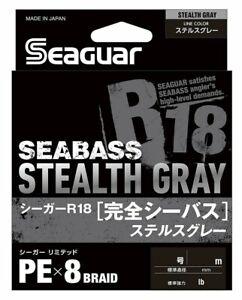 Seaguar R18 Kanzen Seabass 150m 15lb 0.8 Stealth Gray 0.148mm 8 Braid PE Line