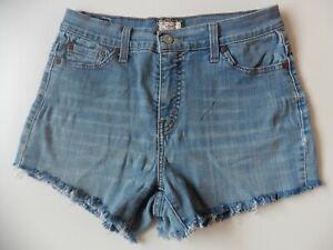 Women's Levis Denim Shorts Size 10 Blue W29 Levi Strauss Hotpants Eur 36