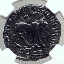 Celtic Barbarous style of Ancient Roman Coin of Julian Ii Ae1 Bull Ngc i72056