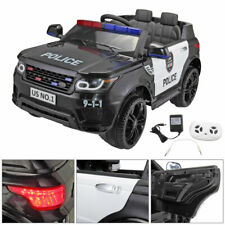12v Kids Ride on Police Car Electric Truck SUV Cars Boy Outdoor Toy 2*motors